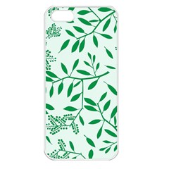 Leaves Foliage Green Wallpaper Apple Iphone 5 Seamless Case (white)