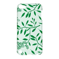 Leaves Foliage Green Wallpaper Apple iPod Touch 5 Hardshell Case
