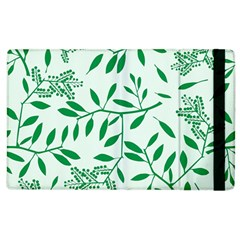 Leaves Foliage Green Wallpaper Apple iPad 3/4 Flip Case