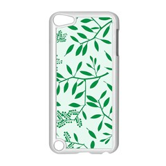 Leaves Foliage Green Wallpaper Apple Ipod Touch 5 Case (white)