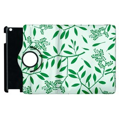 Leaves Foliage Green Wallpaper Apple Ipad 3/4 Flip 360 Case