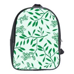 Leaves Foliage Green Wallpaper School Bags (xl)