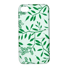Leaves Foliage Green Wallpaper Apple Iphone 4/4s Hardshell Case With Stand