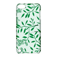 Leaves Foliage Green Wallpaper Apple iPod Touch 5 Hardshell Case with Stand