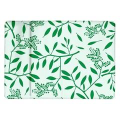 Leaves Foliage Green Wallpaper Samsung Galaxy Tab 10 1  P7500 Flip Case