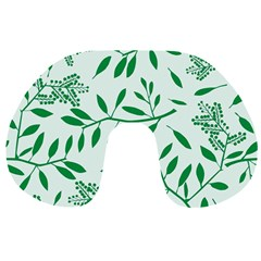 Leaves Foliage Green Wallpaper Travel Neck Pillows