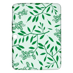 Leaves Foliage Green Wallpaper Samsung Galaxy Tab 3 (10 1 ) P5200 Hardshell Case