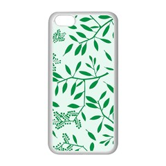 Leaves Foliage Green Wallpaper Apple Iphone 5c Seamless Case (white)