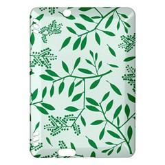 Leaves Foliage Green Wallpaper Kindle Fire Hdx Hardshell Case