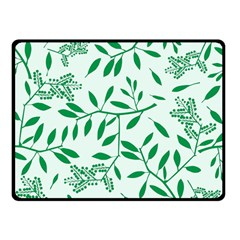 Leaves Foliage Green Wallpaper Double Sided Fleece Blanket (small)