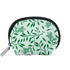 Leaves Foliage Green Wallpaper Accessory Pouches (Small)