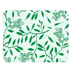 Leaves Foliage Green Wallpaper Double Sided Flano Blanket (large)