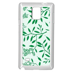 Leaves Foliage Green Wallpaper Samsung Galaxy Note 4 Case (white)