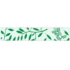 Leaves Foliage Green Wallpaper Flano Scarf (large)
