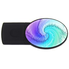 Background Colorful Scrapbook Paper USB Flash Drive Oval (1 GB)