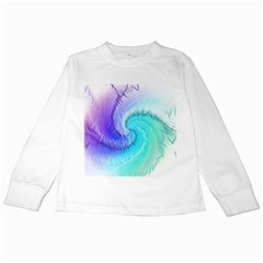 Background Colorful Scrapbook Paper Kids Long Sleeve T Shirts