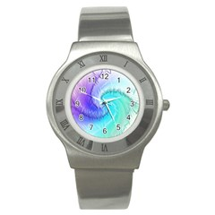 Background Colorful Scrapbook Paper Stainless Steel Watch