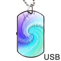 Background Colorful Scrapbook Paper Dog Tag USB Flash (One Side)