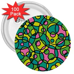 Circle Background Background Texture 3  Buttons (100 Pack)