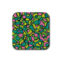 Circle Background Background Texture Rubber Square Coaster (4 pack)