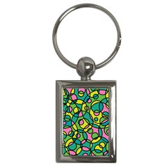 Circle Background Background Texture Key Chains (rectangle)