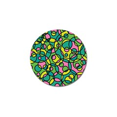 Circle Background Background Texture Golf Ball Marker (4 Pack)