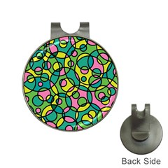 Circle Background Background Texture Hat Clips with Golf Markers