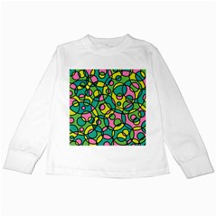 Circle Background Background Texture Kids Long Sleeve T-Shirts