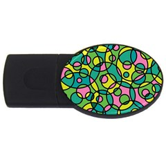 Circle Background Background Texture Usb Flash Drive Oval (4 Gb)