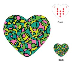 Circle Background Background Texture Playing Cards (Heart)