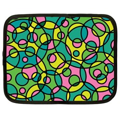 Circle Background Background Texture Netbook Case (xl)