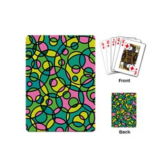Circle Background Background Texture Playing Cards (Mini)