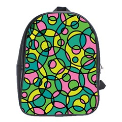 Circle Background Background Texture School Bags (xl)
