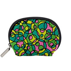 Circle Background Background Texture Accessory Pouches (small)