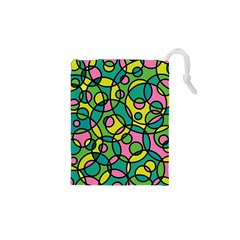 Circle Background Background Texture Drawstring Pouches (XS)