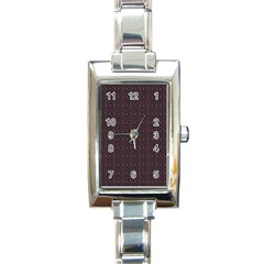 Pattern Background Star Rectangle Italian Charm Watch