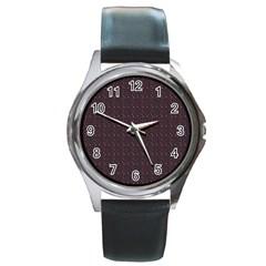 Pattern Background Star Round Metal Watch
