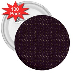 Pattern Background Star 3  Buttons (100 pack)