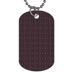 Pattern Background Star Dog Tag (one Side)
