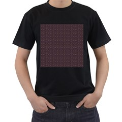 Pattern Background Star Men s T-Shirt (Black) (Two Sided)