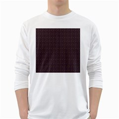 Pattern Background Star White Long Sleeve T-Shirts