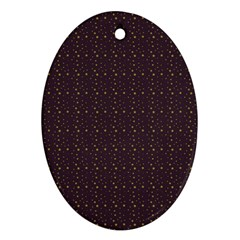 Pattern Background Star Oval Ornament (two Sides)