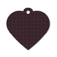 Pattern Background Star Dog Tag Heart (One Side)