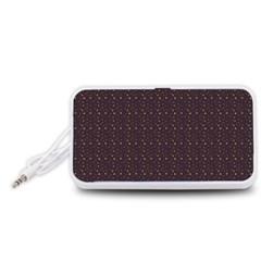 Pattern Background Star Portable Speaker (White)