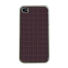 Pattern Background Star Apple Iphone 4 Case (clear)