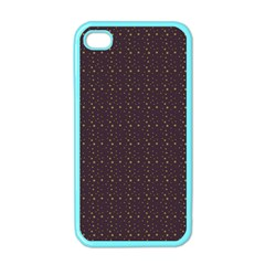 Pattern Background Star Apple Iphone 4 Case (color)