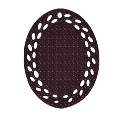 Pattern Background Star Ornament (Oval Filigree)