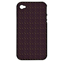 Pattern Background Star Apple iPhone 4/4S Hardshell Case (PC+Silicone)