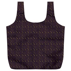 Pattern Background Star Full Print Recycle Bags (l)