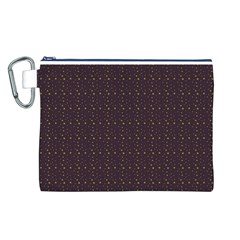 Pattern Background Star Canvas Cosmetic Bag (L)